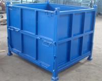 常州钢制料箱,折叠式网格料筐